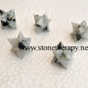 Rainbow Moonstone Merkaba Star