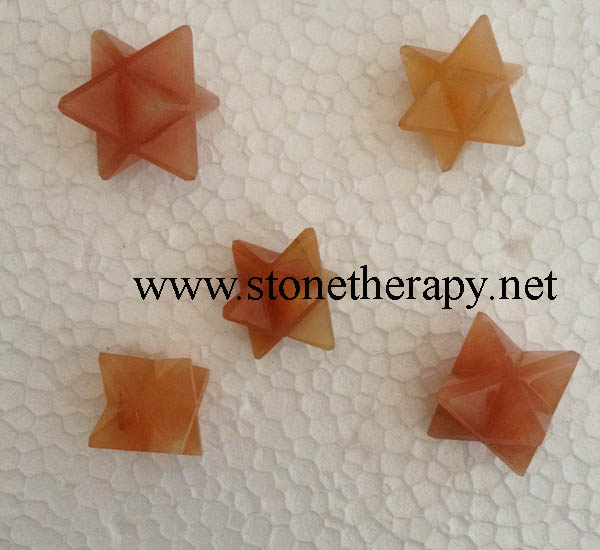 Red Aventurine Merkaba Star