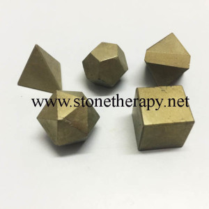 Golden Pyrite 5 pc Geometry set