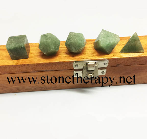 Green Aventurine 5 Pc Geometry set