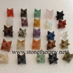 Mixed Gemstone Merkaba Star