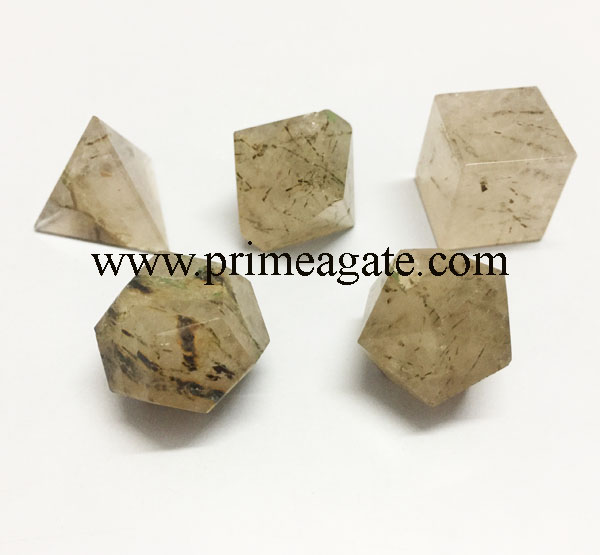 Rutile-Quartz-5pc-Geometry-Set