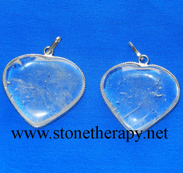 Crystal Quartz Heart Pendants