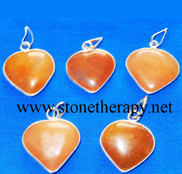 Red Aventurine Heart Shape Pendants