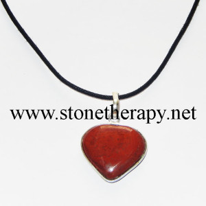Red Jasper Heart Shape Pendants