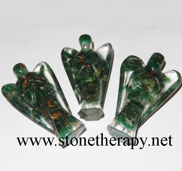 Green Mica Orgone 2 INCH Angels