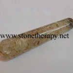 Orgone Crystal Quartz Smooth Massage Wand