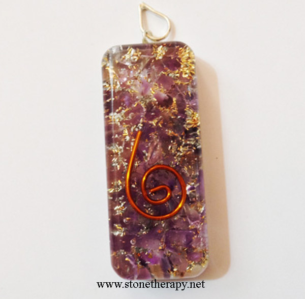 Orgone-Rectangle-Amethyst-Pendant