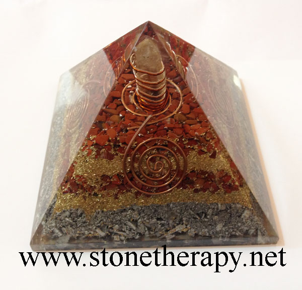 Orgone-Red-Jasper-Aluminium-Layer-Pyramid-Point