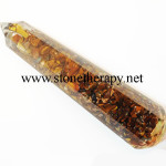 Orgone Tiger Eye Facetted Massage Wand