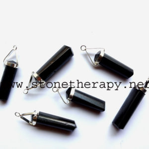 Black Tourmaline Double Point Pencil Pendant