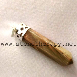 Cream Moonstone cap pencil pendant
