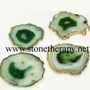 Green Agate coasters
