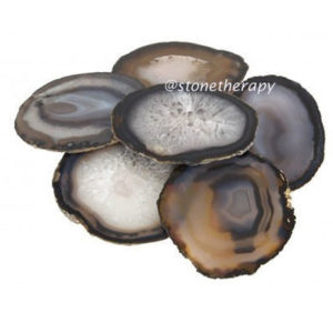 grey-agate coasters